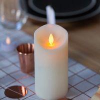 Bougie LED Ivoire 15cm Flamme Vacillante Télécommandable
