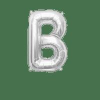 Ballon Lettre B Argent 35 cm