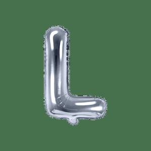 Ballon Lettre L Argent 35 cm