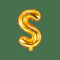Ballon Lettre S Or 35 cm