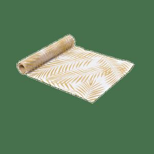Chemin De Table Organza Palmier Doré Blanc