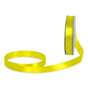 Ruban Satin Jaune 12mm x 25m