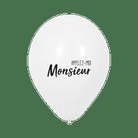 "Ballon Mariage ""Appelez-moi Monsieur"" Blanc"