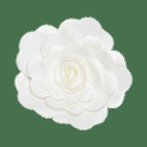Fleur En Papier Rose Blanc 30 cm