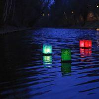 Sac lumineux flottant Tulum Rouge x2
