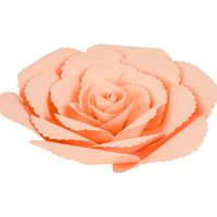Fleur En Papier Rose Ancienne Pêche 20 cm