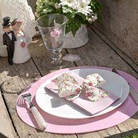 Set de table Métallisé Argent 34 cm x6