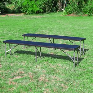 Lot de 2 Bancs Pliables Noir