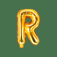 Ballon Lettre R Or 35 cm