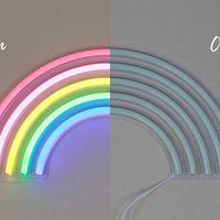 Lampe Néon Arc-en-ciel Multicolore 38 cm
