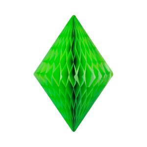 Cristal alvéolé 50 cm Vert