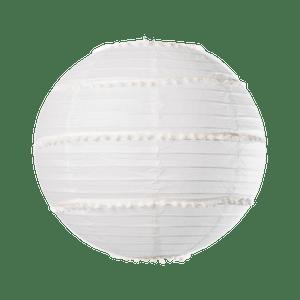 Boule Japonaise avec Pompons blanc 35 cm