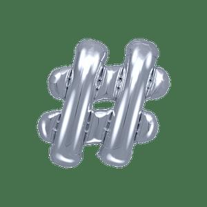 Ballon Lettre Hashtag Argent 35 cm