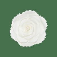 Fleur En Papier Rose Ancienne Blanc 20 cm