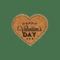 Set Autocollants en Liège Happy Valentines Day