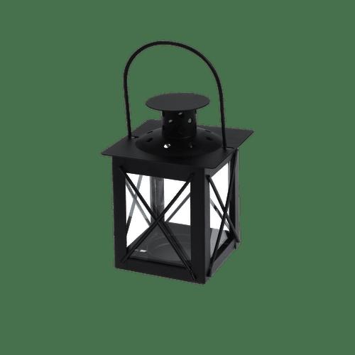 Lanterne Noir en Verre et Métal