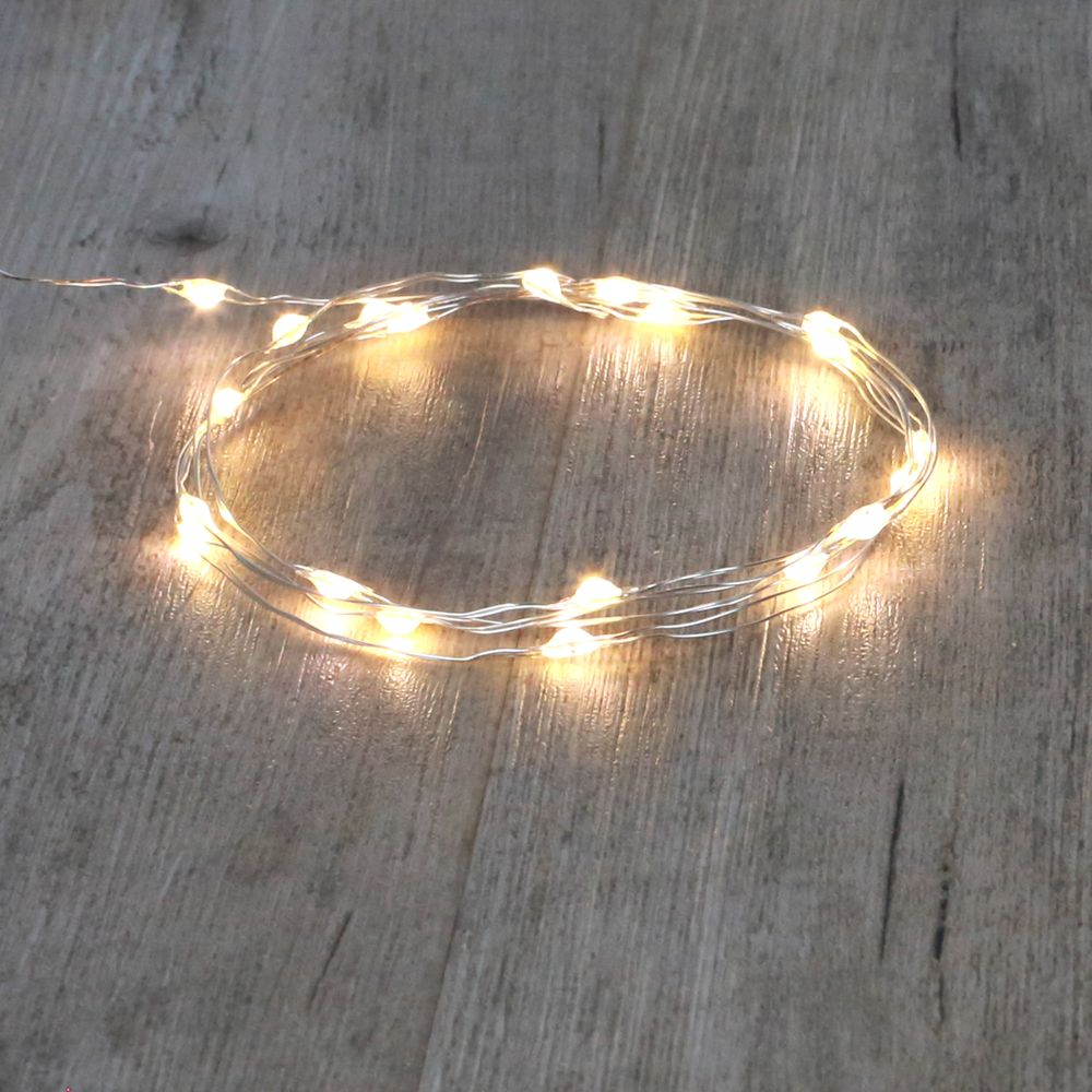Guirlande Micro LED 2M Argent 20 LEDs
