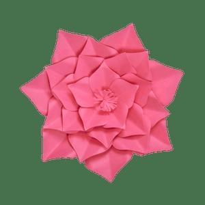 Fleur En Papier Gardénia Fuchsia 30 cm