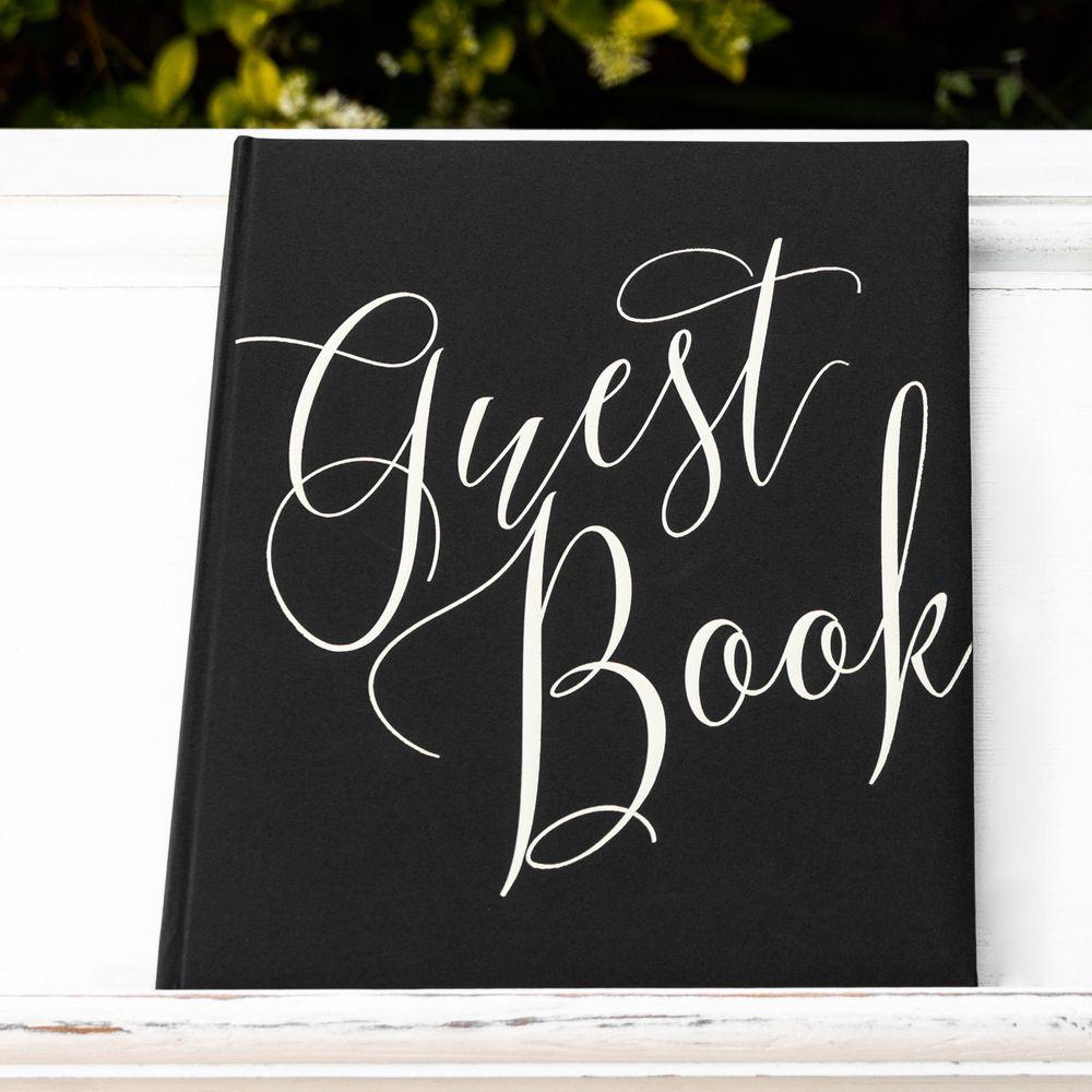Livre D'Or Guest Book Noir 24,5 cm