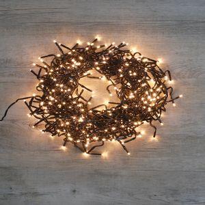 Guirlande Lumineuse Cluster 384 LEDs Blanc chaud 2,35 m Clignotant