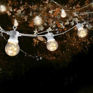 Guirlande Guinguette Micro LED 10 m Cable Blanc