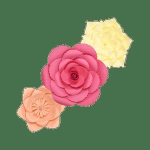 Kit Fleurs En Papier Pinky Nude x3