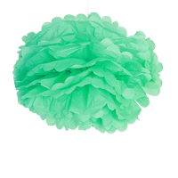 Décoration Pour Soirée Mariage & Fête, Anniversaire, Fête Pompons Vert D'Eau 40Cm (Lot De 6 Pièces)