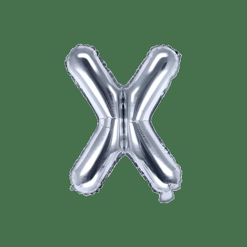 Ballon Lettre X Latex Argent