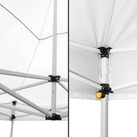Tonnelle Pliante 3x6m imperméable 320 g/m2 Blanche