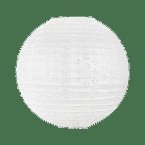 Boule Papier 35cm Ajourée Blanc
