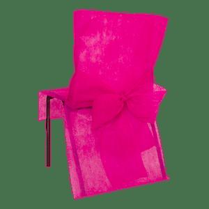 Housse de Chaise avec nœud Fuchsia x10