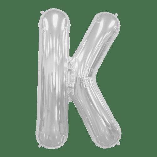 Ballon Lettre K Argent 90 cm