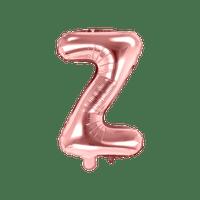 Ballon Lettre Z Latex Rose Gold