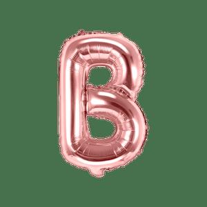 Ballon Lettre B Rose Champagne 35cm