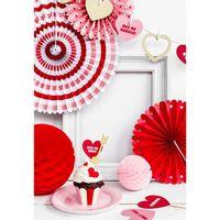 Rosace Rouge x3