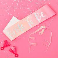 Echarpe Papier Bride to Be Iridescent et Rose