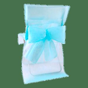 Housse de Chaise avec nœud Aquamarine x10