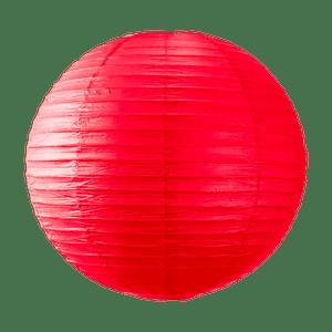Boule papier 50cm Rouge