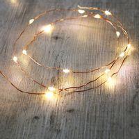Guirlande Micro LED 2M Cuivre 20 LEDs