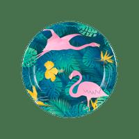 Assiettes Motif Tropical x8