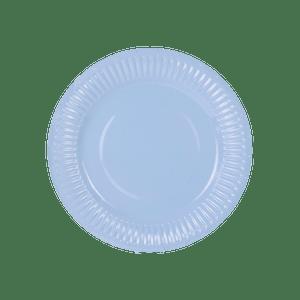 Assiette Carton Bleu Pastel x6