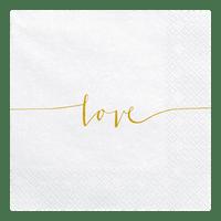 Serviette Papier Love Blanc x20