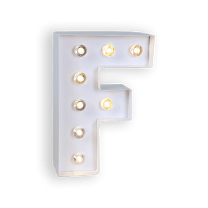 Lettre Lumineuse F