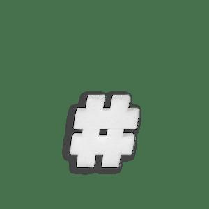 Lettre Hashtag en Polystyrène 10cm