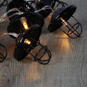 Guirlande Lumineuse Lanternes Métal Noir