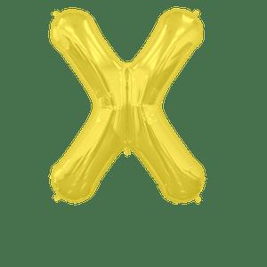Ballon Lettre X Or 90 cm