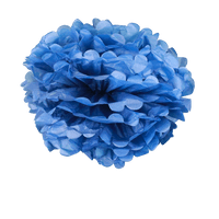 Pompons Bleu Navy 40cm x2