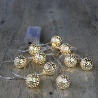 Guirlande Lumineuse Boules Marocaines Argent