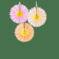 Rosace Papier pastel x3