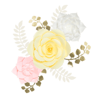 Kit Fleurs En Papier Ice Cream x3 + Rameaux